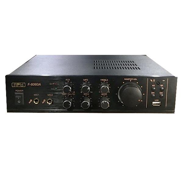 Amply liền mixer APU F6060A Công suất 60W