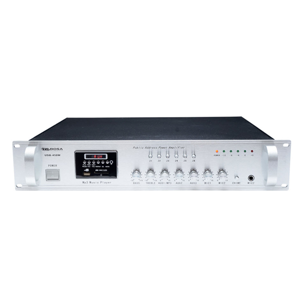 Amply liền mixer USB Bosa 450W