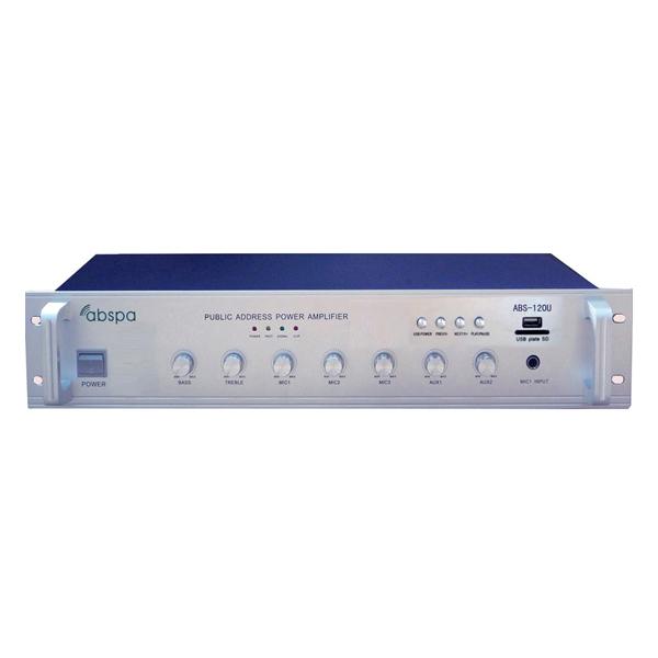Amply liền mixer ABS 120U công suất 120W Chính hãng