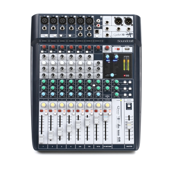 Bàn trộn Mixer Soundcraft Signature 10