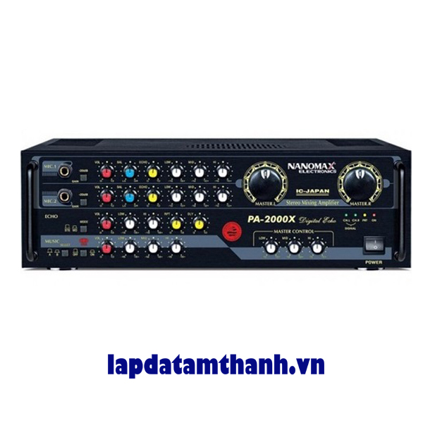 Amply karaoke nanomax PA 2200X