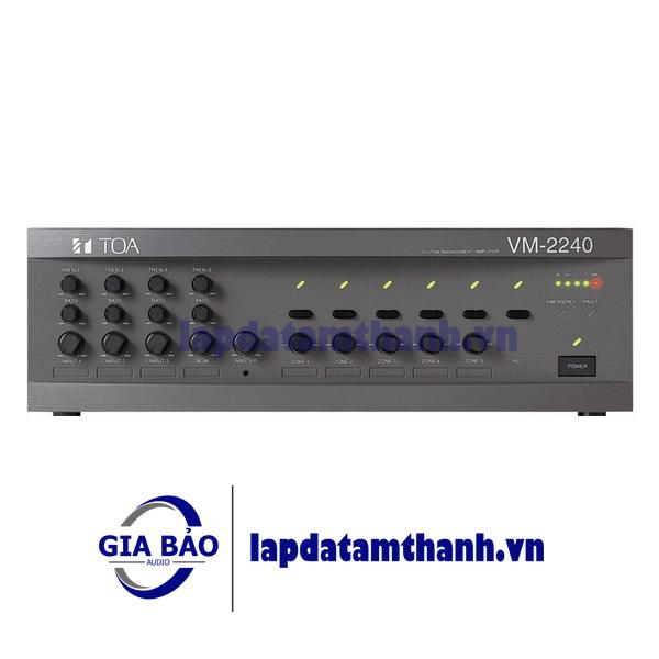 Mixer Amplifier 120W chọn 5 vùng loa TOA VM-2120