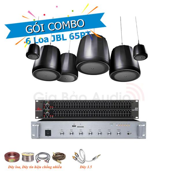 Combo lắp đặt âm thanh quán cafe (Cà phê), nhà hàng với loa treo trần JBL Control 65PT
