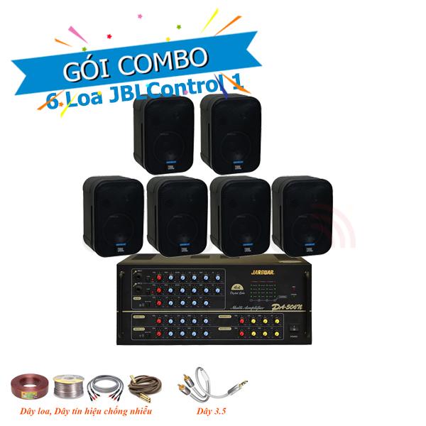 Combo lắp đặt âm thanh loa treo tường JBL Control 1 cho nhà hàng, quán café-Cà phê
