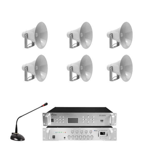 Combo lắp đặt âm thanh nhà xưởng - 6 loa nén phóng thanh