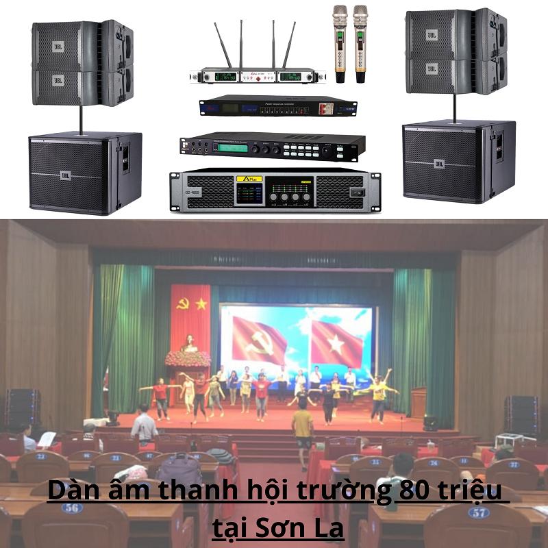 Dàn âm thanh hội trường 80 triệu tại Sơn La