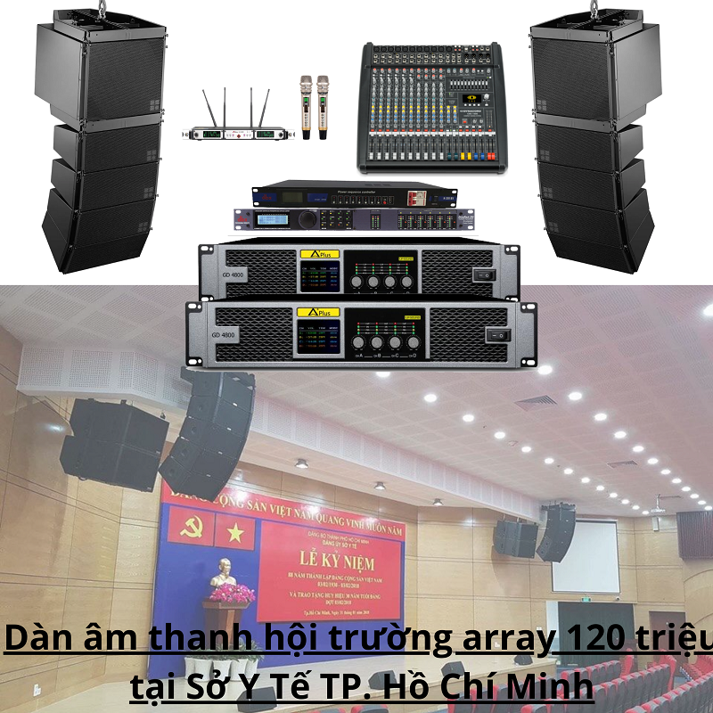 Dàn âm thanh hội trường array 120 triệu tại Sở Y Tế TP. Hồ Chí Minh