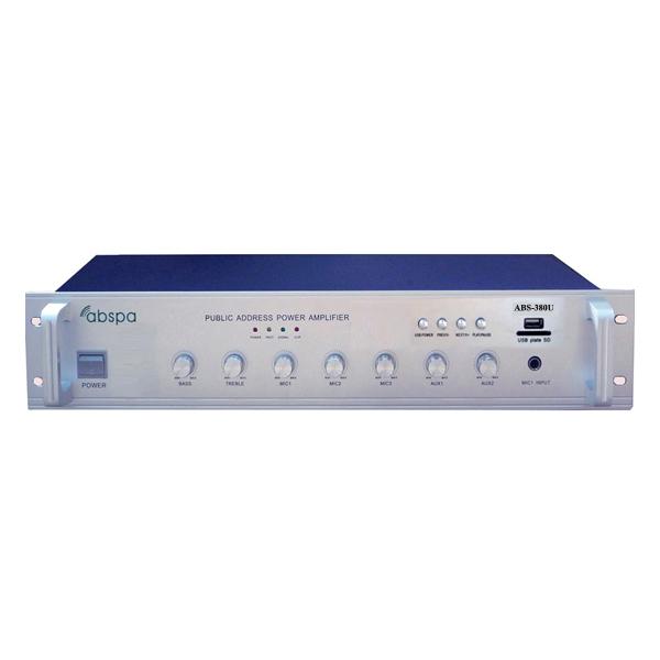 Amply liền mixer ABS 380U công suất 380W