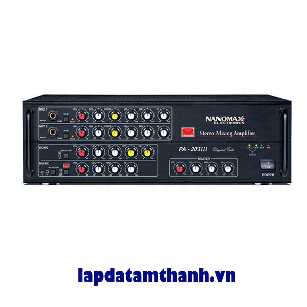 Amply karaoke nanomax PA 203lll